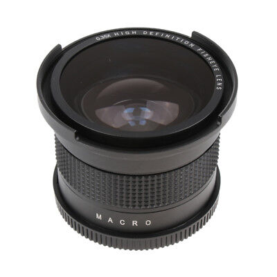 58mm Wide Angle Fisheye Lens 0.35x for Canon Rebel T6i T6 T6S T5i T5 Camera