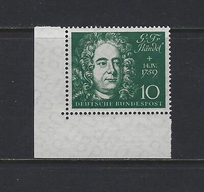 GERMANY - #804a - GEORGE FRIDERIC HANDEL GERMAN COMPOSERS (1959) MNH