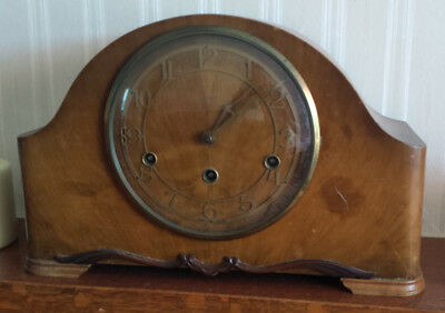 Vintage Art Deco Enfield Mantel Clock with Chime 1930s with Key