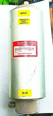 Detech air aluminum  large  compressor filter model 645 for element 130e