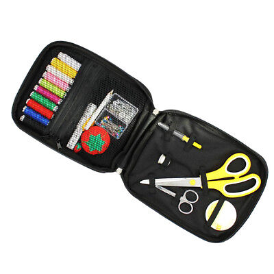Home Travel Sewing Kit Thread Threader Needle Tape Measure Scissor Emergency