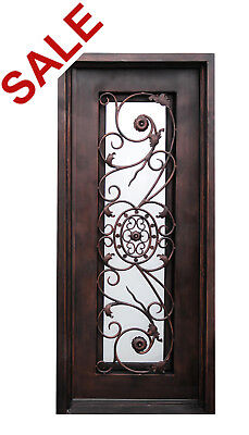 "101S Single Entry Wrought Iron Door with Vent Glass  37 1/2"" x 81"""