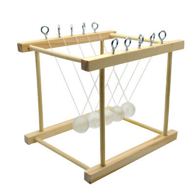 Cradle Ball Science Physics Toys Experiment Newtons Kids Learning Pendulum 6L