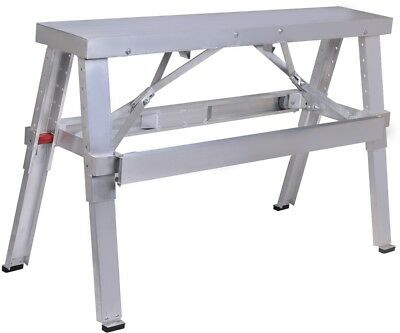 New Aluminum Heavy Duty Drywall Walk-Up Adjustable 18'-30' Folding Bench