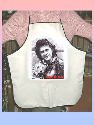 David Essex White Cotton Unisex Apron