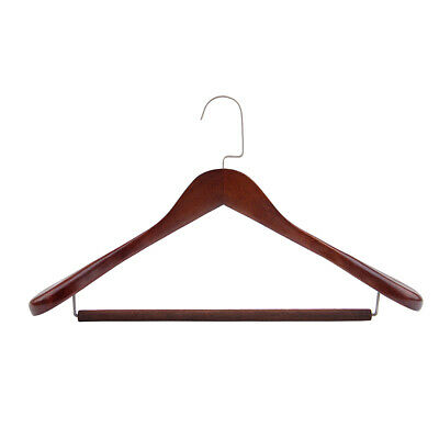 Wooden Coat Suit Garment Clothes Wardrobe Wood Hanger with Trouser Bar
