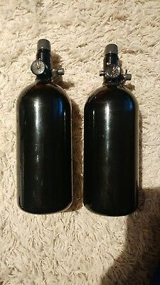2x Paintball Airsoft Preset HP System Flasche 0,8l  200 bar HPA Pi
