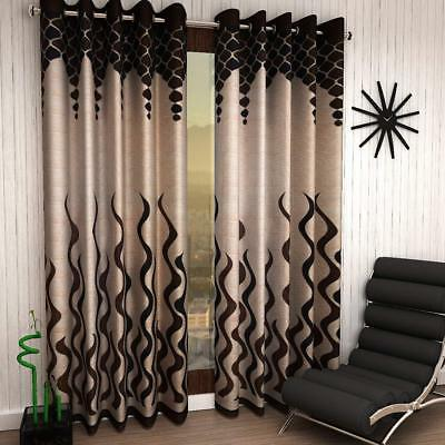 Diwali Special 2 Piece Eyelet Polyester Door Curtain