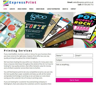 Printing Business For Sale, Profitable Business   £600+ Profit Week Part Time