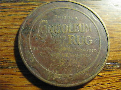 Congoleum Rug For Gook Fortune Medal / Token    Lot#  TK SSWA