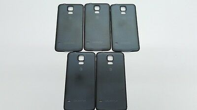 Lot of 5 OEM Samsung Galaxy S5 AT&T SM-G900A Battery Back Door Cover Black x 5