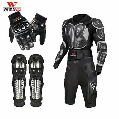 Motorcycle Jacket Shorts Gloves Knee Guard Protective Gear Full Body Chest Hip