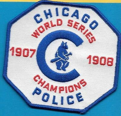 Chicago Ill Il Police Dept World Series Cubs 1907 1908 Champs Cpd Baseball