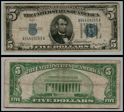 1934 A $10 Dollar Bill Silver Certificate Wwii Yellow Seal Note ...