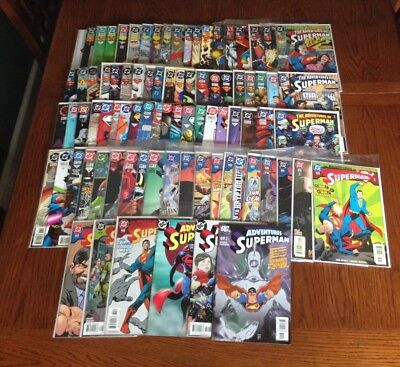 Lot of 86 Adventures of Superman (1987) from #500 - 641 VF