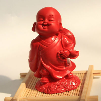 Chinese Natural Red Organic Cinnabar Protection Figurine Lucky Lovely Amulet Hot