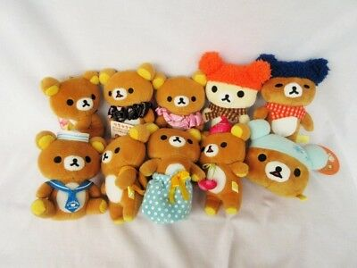 San-X Rilakkuma A Lot Of Plush Dolls  Set Of 10 Brand New With Tag Free Shipping