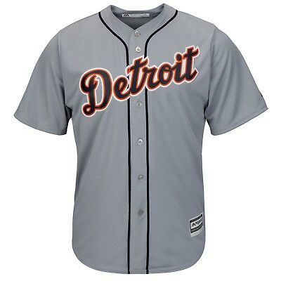 Detroit Tigers Majestic Athletic Cool Base Road Baseball Jersey