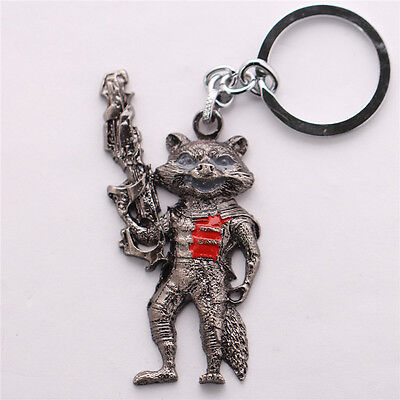 Keyring Keychain the Guardians Della of Galaxy Rocket Raccoon Marvel #3