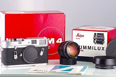 LEICA LEITZ WETZLAR M4 CLASSIC + 1.4/50 50mm  SUMMILUX 2st PREMIUM SET IN BOX