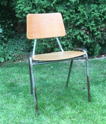 Child's Vintage Mid Century Stacking School Hall/Classroom Chairs - CAN DELIVER