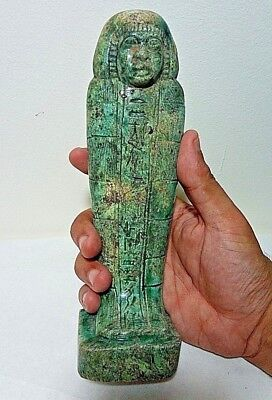 ANCIENT EGYPTIAN ANTIQUE USHABTI of King Pharaonic Statue Stone  1850-1420 BC