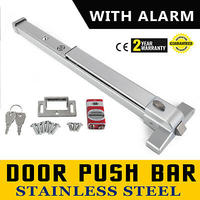 Door Push Bar + Alarm Panic Exit Device Lock 70N 960℃ Heavy For Crowded Public