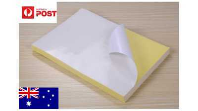 20 x A4 white glossy sticky paper printable pre-cut label Self-adhesive