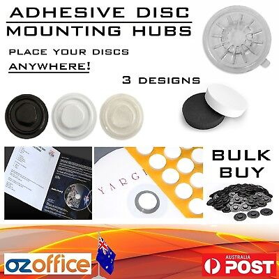 CD DVD Adhesive Spider Hubs Mounting Sticker Dots - Mount Your Discs Anywhere!