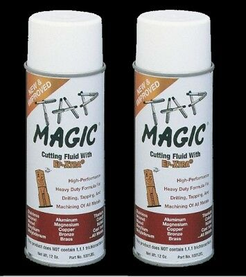2-pack Tap Magic Cutting Oil 12oz Sprays Drilling Tapping Threading All Metals