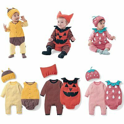 Boy Girl Toddler Baby Halloween Costume Fancy Dress Party Outfit Clothes 3PC Set