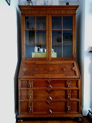 original Edwardian oak GILLOW and WARING bureau and book case