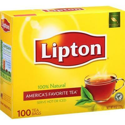 lipton tea bags 100 count all natural tea black tea with free sample
