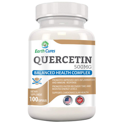 Quercetin 500mg - Joint Relief, Anti-Histamine, Anti-Inflammatory and More US