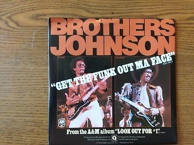 1976 M-&EX. SL. Brothers Johnson Get The Funk Out Ma Face / Tomorrow  1851-S  45