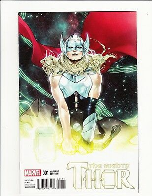 Mighty Thor #1 Oliver Coipel 1:25 Variant Cover 2015 Jane Foster Jason Aaron