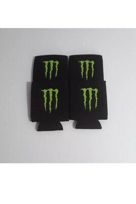4 Monster Energy Drink Logo Claw Koozie Can Coolers
