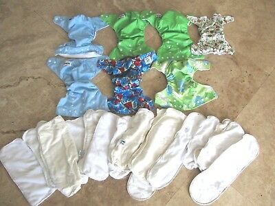 Large lot of cloth diapers, pads, Best Bottom