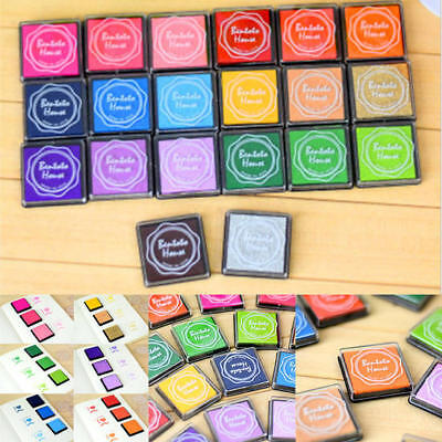 20 Colors Ink Pad Set for Rubber Stamps, Card Making, Paper Craft Fabric Finger