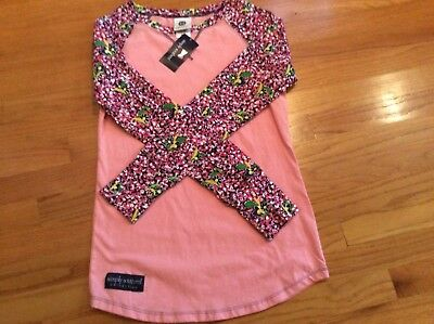 Simply Southern Raglan Daisy Long Sleeve Size Small NWT