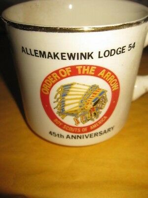 Allemakewink Lodge 54 / Boy Scout Mug  Order Of The Arrow Logo  45Th Anniversary