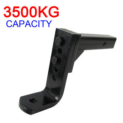 Max Rated 3500Kg 5 Hole 12 Stages Adjustable Tow Ball Mount Towbar Tongue Hitch