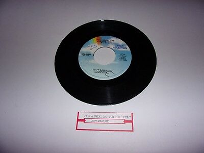 Judy Garland: It's A Great Day For The Irish / A Pretty Girl / 45 Rpm / VG+