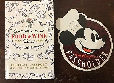 Disney World Chef Mickey Passholder 2018 Epcot Food And Wine Festival Magnet
