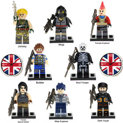 8PCS/SET Fortnite Battle Royale Building Blocks Figures Game Collection Kids Toy