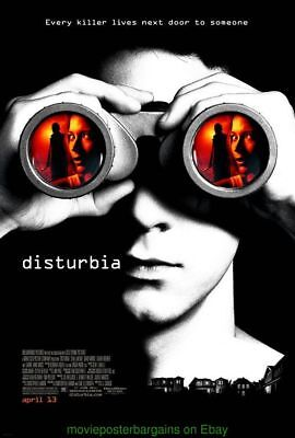 DISTURBIA MOVIE POSTER Original DS 27x40 SHIA LABEOUF 2007  N. Mint Condition