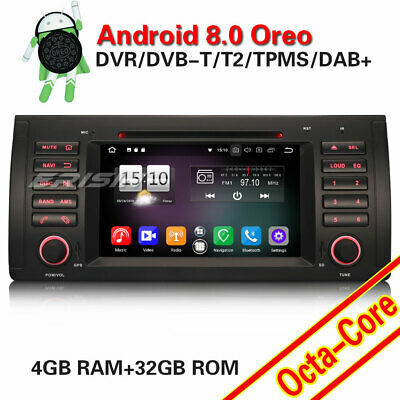 "7""Autoradio Android 8.0 NAVI GPS DVD DAB+TNT WIFI for BMW 5 Series E39 X5 E53 M5"