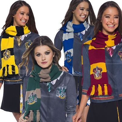 Official Deluxe Harry Potter Hougwarts House Crest Scarfs Fancy Dress