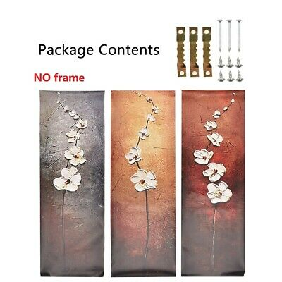 Canvas Print Painting Pictures Wall Art Home Decor Abstract  Flowers Frame 3pcs