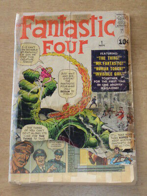 Fantastic Four #1 Poor (0.5) Marvel Comics Complete Original November 1961 (Sa)